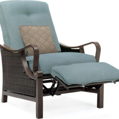 Wicker Recliner Chair Outdoor Wood Folding Chairs Hanover Ventura Luxury Resin