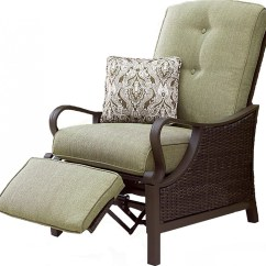 Wicker Recliner Chair Chaise Lawn Hanover Ventura Luxury Resin Outdoor