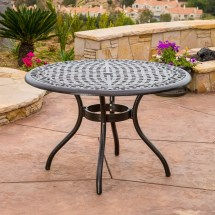 Cast Aluminum Round Patio Table Set