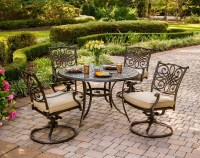 Hanover Traditions 5-Piece Outdoor Dining Set with Swivel ...