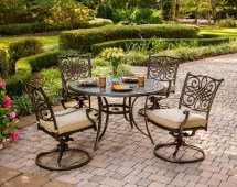 Hanover Traditions 5-piece Outdoor Dining Set With Swivel