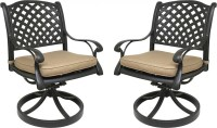 Nevada Cast Aluminum Outdoor Swivel Rocker Chairs with ...