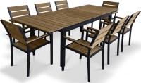 Urban Furnishing 9 Piece Polywood Outdoor Patio Dining Set ...