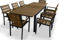 Urban Furnishing 9 Piece Polywood Outdoor Patio Dining Set ...
