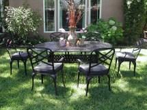 Cbm Outdoor Cast Aluminum 7 Piece Patio Dining Set With