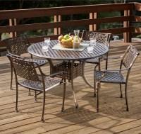 Sebastian Cast Aluminum Outdoor Dining Set In Copper ...