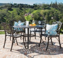 Round 5 Piece Outdoor Dining Table Set