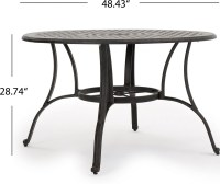 Calandra Cast Aluminum 5 Piece Outdoor Dining Set with 48 ...