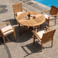 Teak Folding Chairs And Table Travel Chair Wholesaleteak 5 Piece Grade A Dining Set With 48