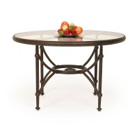 Origin Round Patio Dining Table 48 inch with Glass Top CA ...