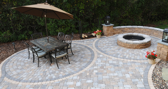 circlestone pavers patio town