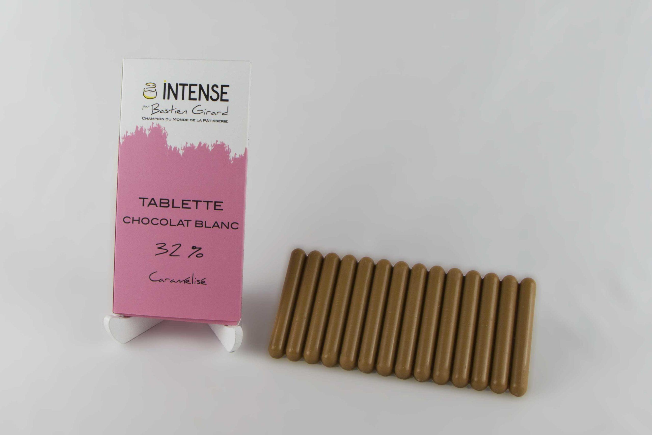 tablette chocolat blanc caramelise