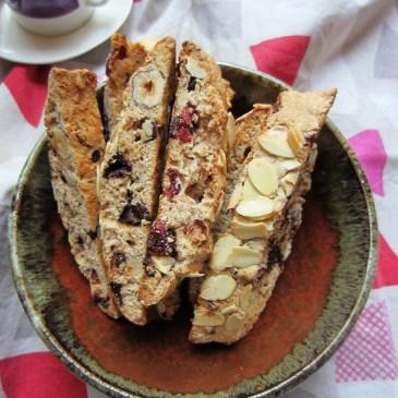 Hazelnut, Cranberry & Chocolate Biscotti