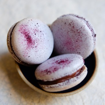 Blueberry Macarons for Blue Monday