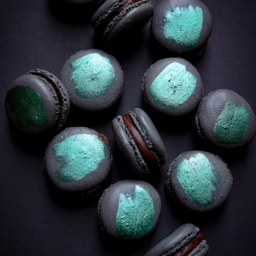 Mint Olive Oil Macarons