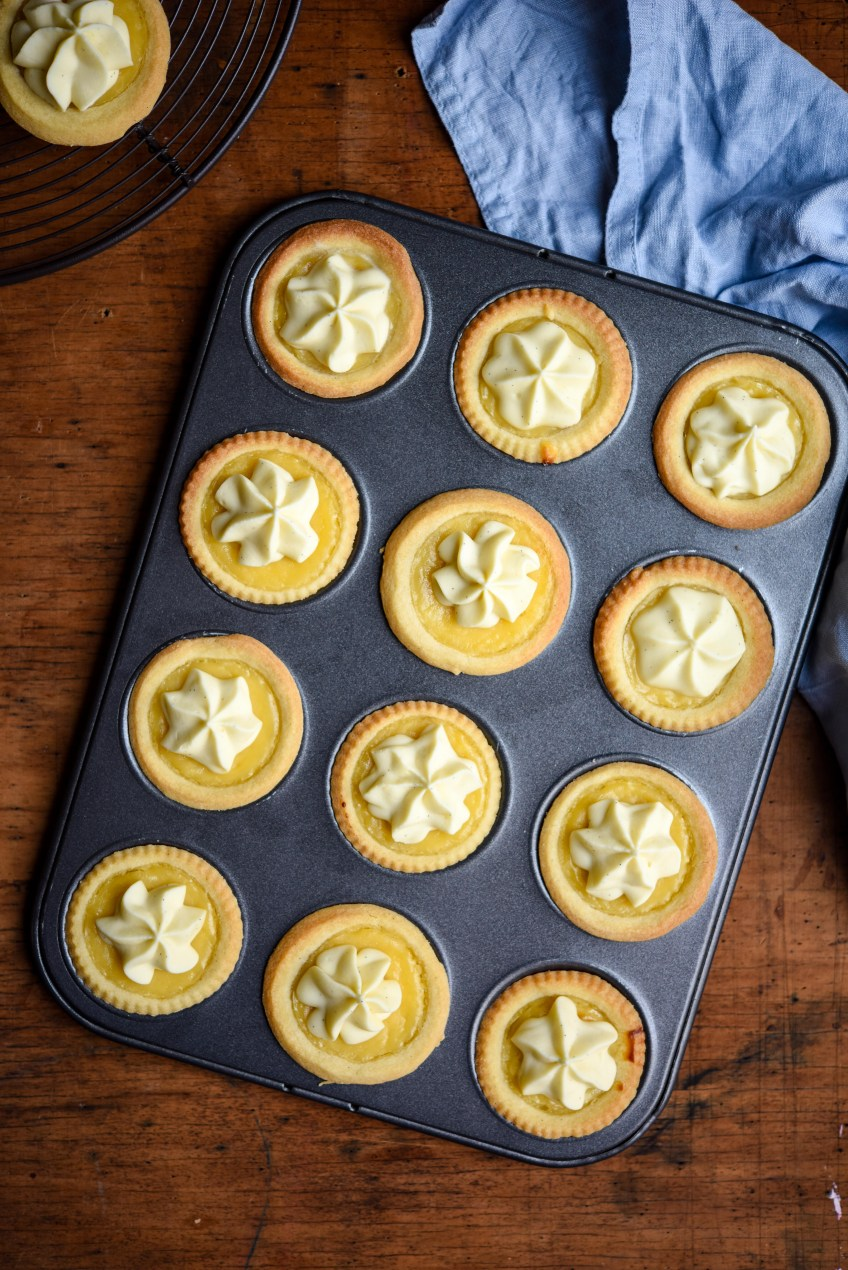 Lemon Curd Tarts with Whipped White Chocolate Ganache | Patisserie Makes Perfect