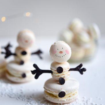 Macaron Snowmen