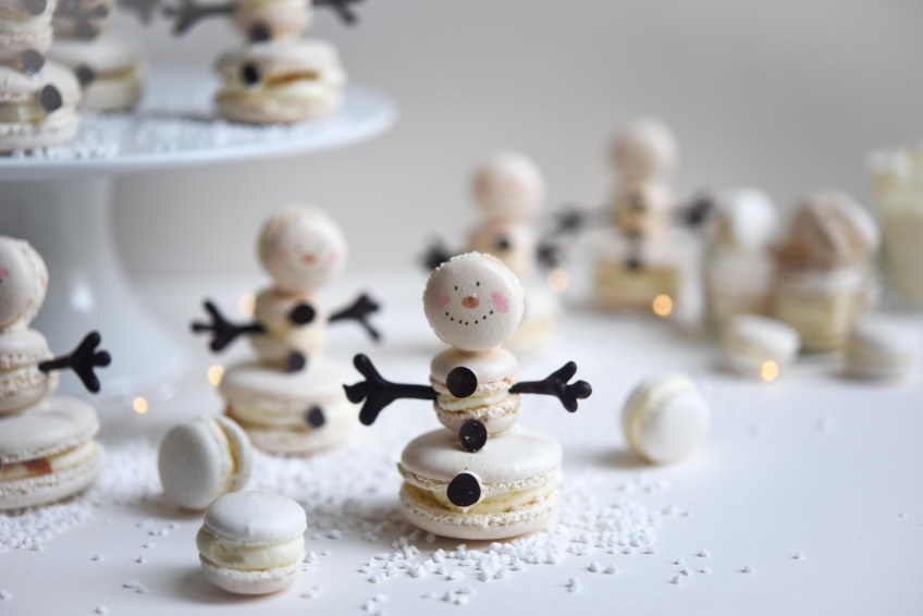 Snowmen Macaron | Patisserie Makes Perfect