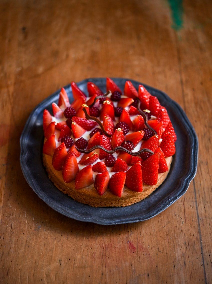 Strawberry Sable Breton | Patisserie Makes Perfect