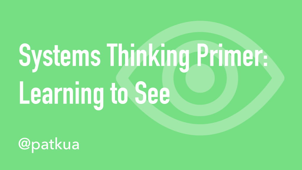 Systems Thinking Primer Cover Slide