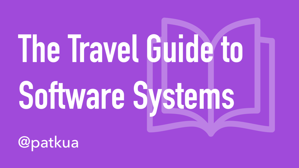 The Travel Guide to Software Systems Cover Slide