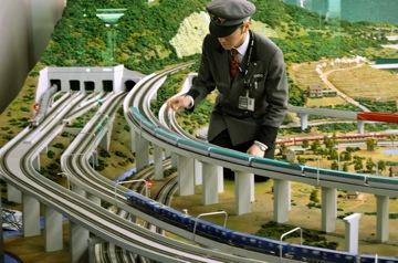 Diorama at the Railway Museum, Saitama, Japan