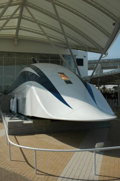 JR MLX-01 maglev model, Expo 2005, Aichi, Japan