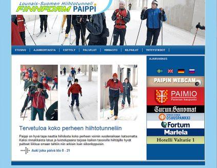 Finnfoam Paipin verkkosivuston suunnittelu ja toteutus, 2009.