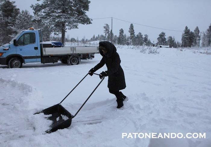 En el Círculo Ártico, intercambiando trabajo por alojamiento y comida