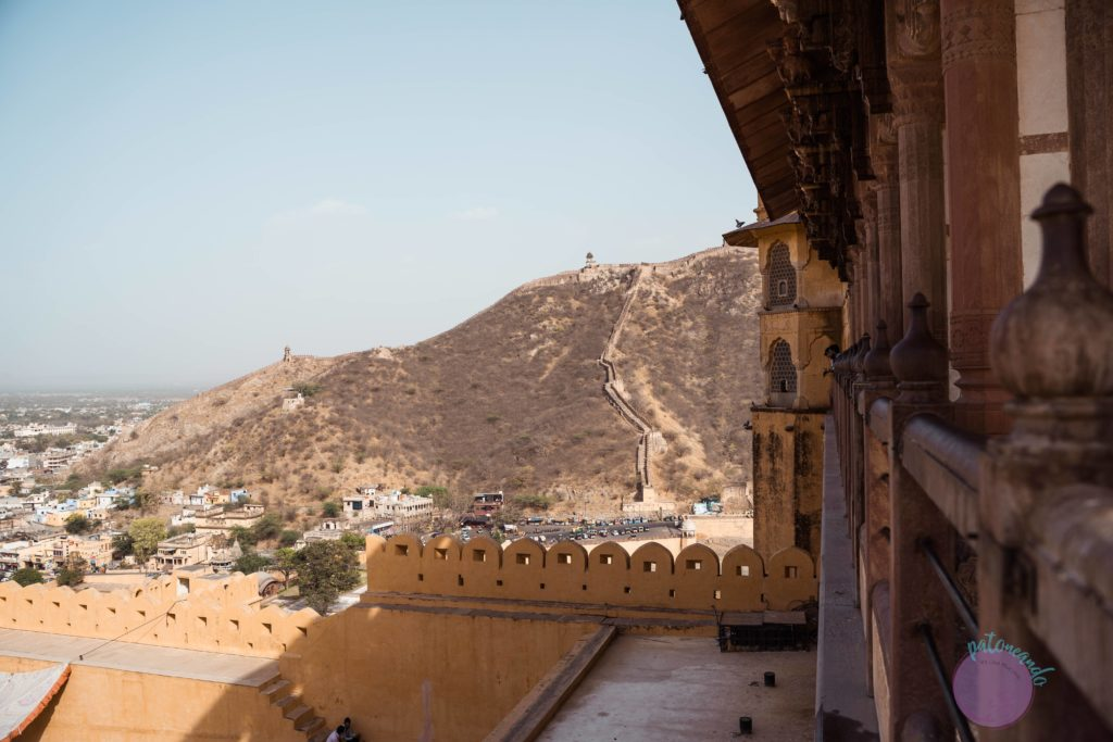 20 cosas que hacer en Jaipur - India - vista desde el fuerte Ambar, jaipur -Patoneando blog de viajes