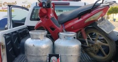 Polícia Militar recupera botijões furtados em São Bento