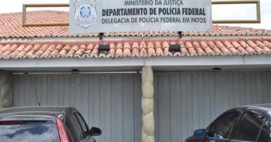 Droga apreendida no Sertão é levada para a delegacia da Polícia Federal de Patos