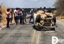 Capotamento no Sertão deixa homem gravemente ferido