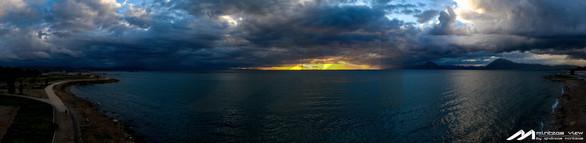 """Συννεφιασμένη Κυριακή στην Πάτρα με φόντο ένα """"χρυσό"""" ηλιοβασίλεμα (pics)"""