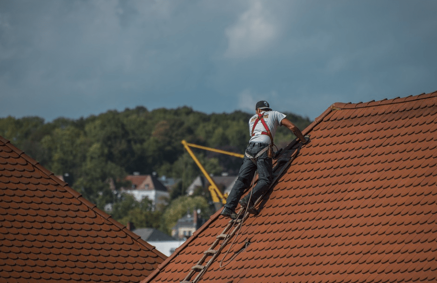 Roofer on the Roof