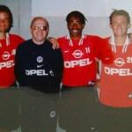 Didier Martel, Jef Laurent, Patrice et Franck Gava, camps des loges, 1997 (photo : Jérôme Leroy)