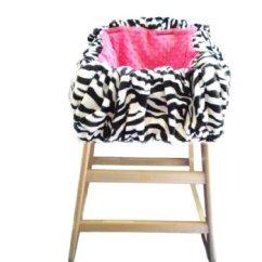 Zebra High Chair Best Guitar Shopping Cart Hot Pink Minky Dot