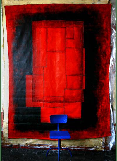 Peinture sur drap - Patricia Burkhalter