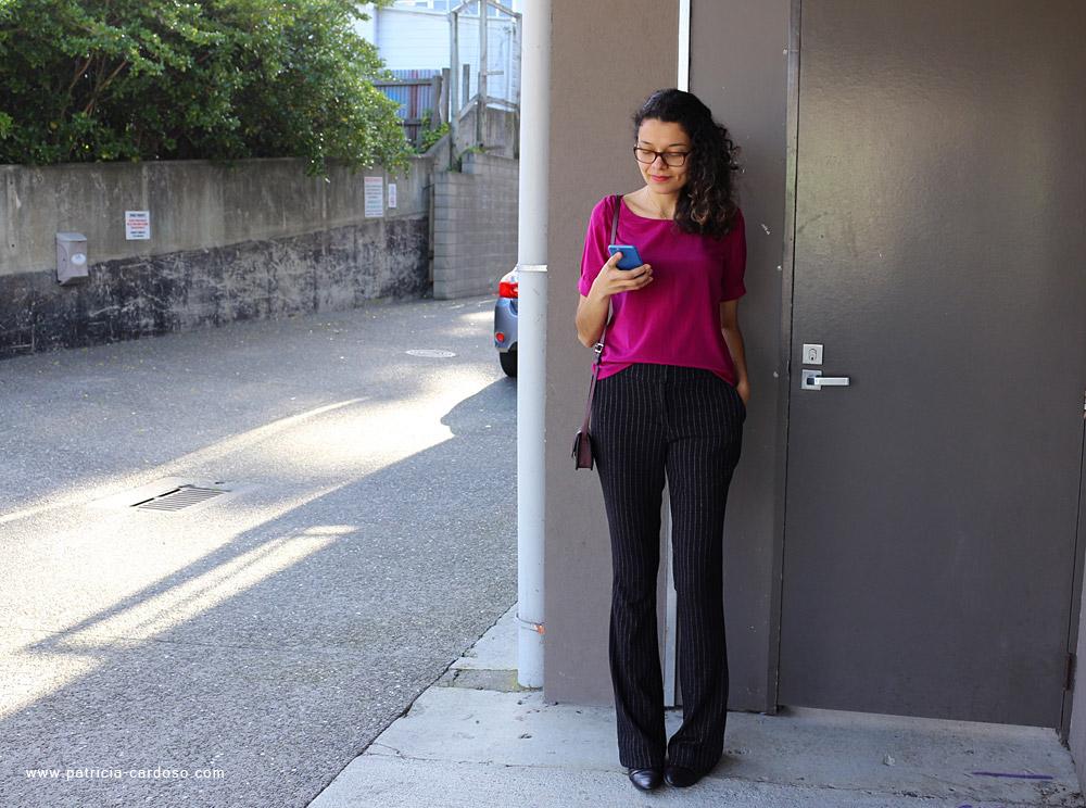 Patricia Cardoso vestindo calça social