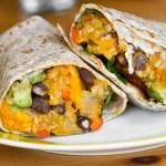 blackbean, quinoa and butternut squash burritos