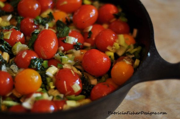 tomato cobbler with kale