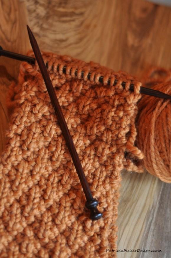 seersucker knit scarf