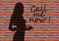 shadow of escort girl
