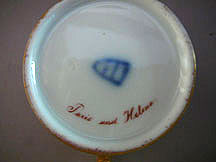 German 19th century porcelain Cabinet cup and saucer
