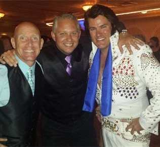 Mike and Donny of Madison Avenue Productions with The King