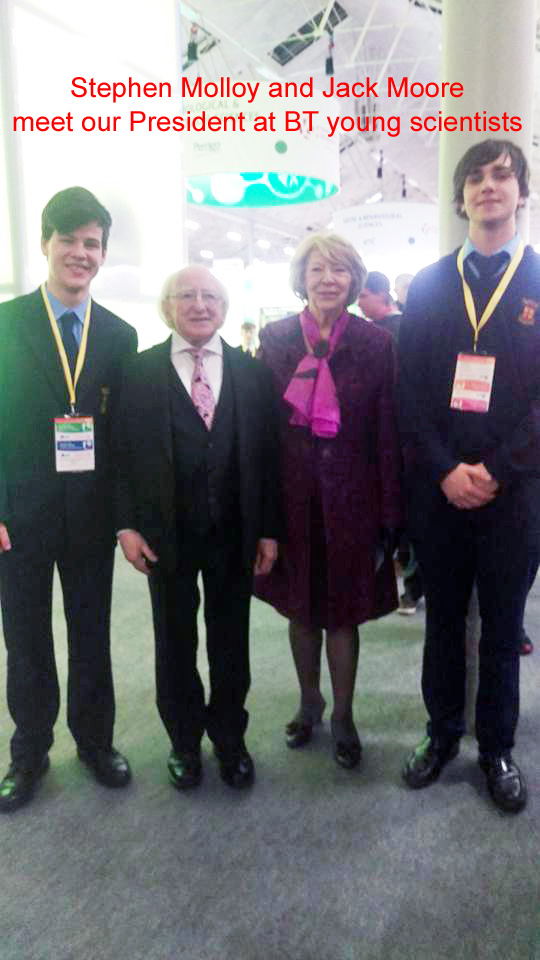 Patrician BT Young Scientists meet President Higgins