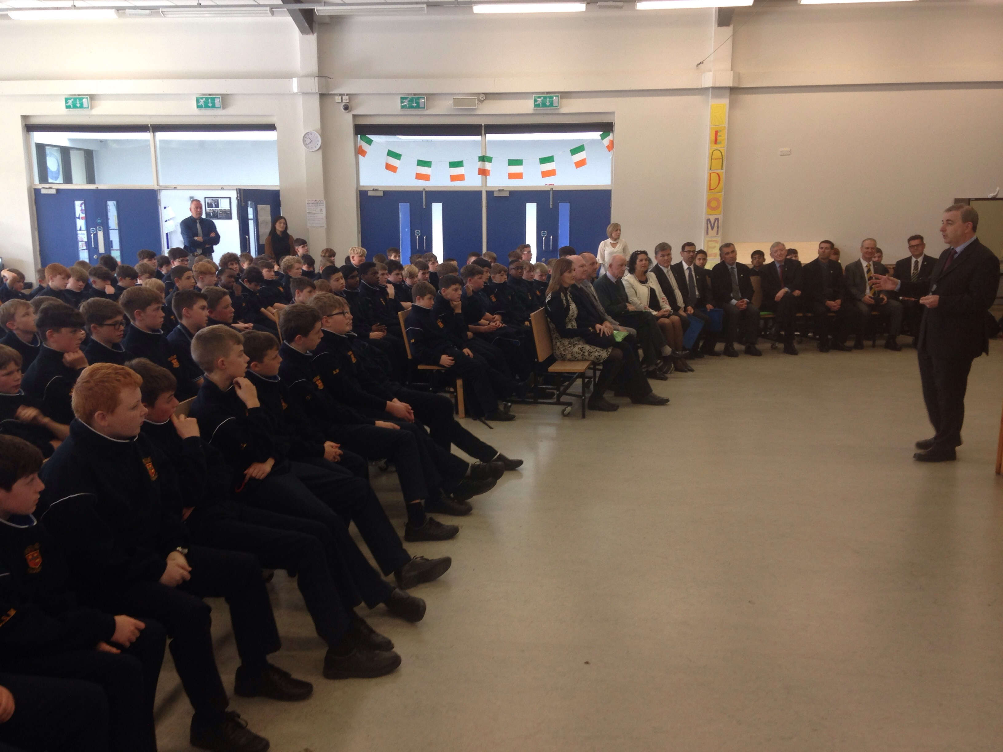 Mr O'Leary explains the importance of the ethos to our 1st Years