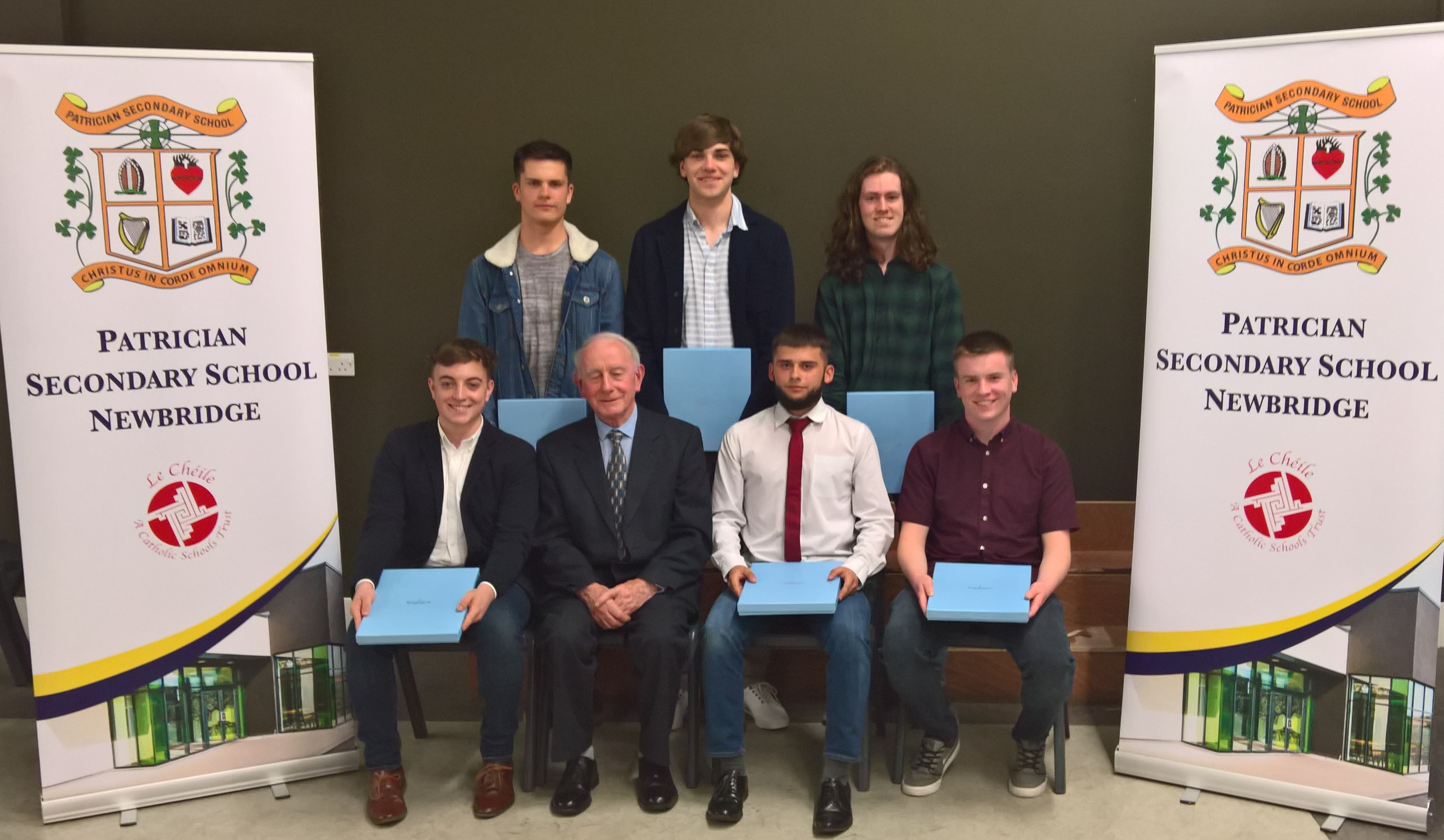 6 members of last year's LC class received a presentation from BOM chairman Br Cormac Commins, for the LC results.