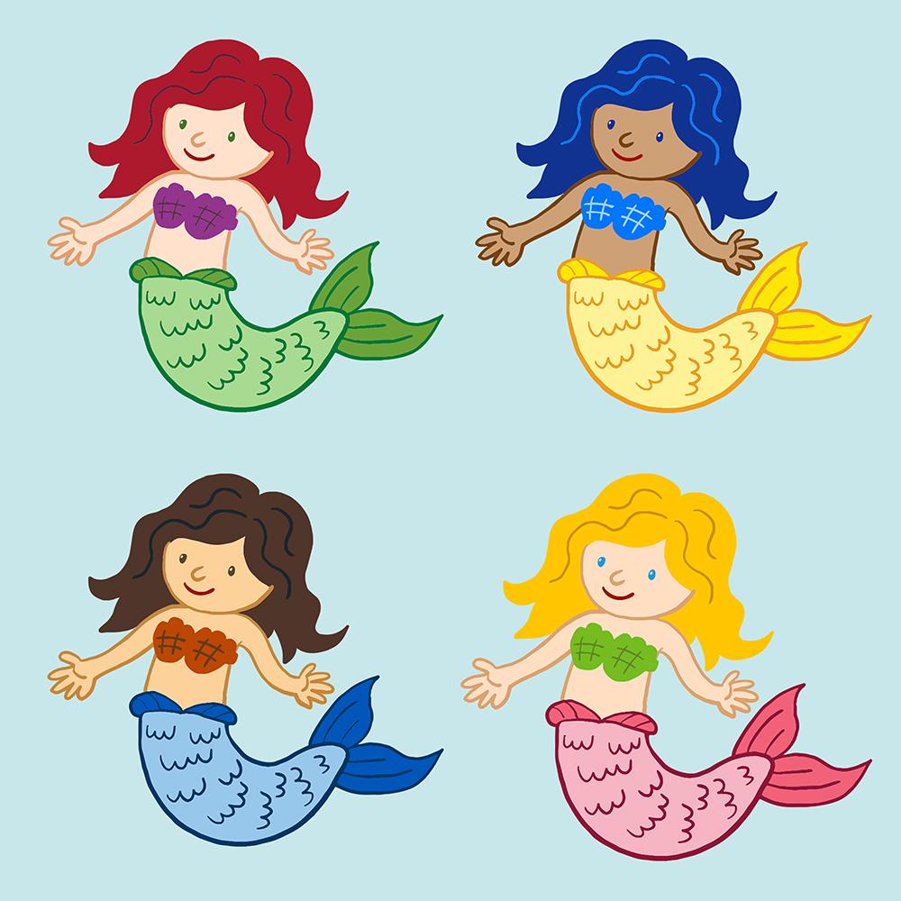 Muster Meerjungfrau verschiedene