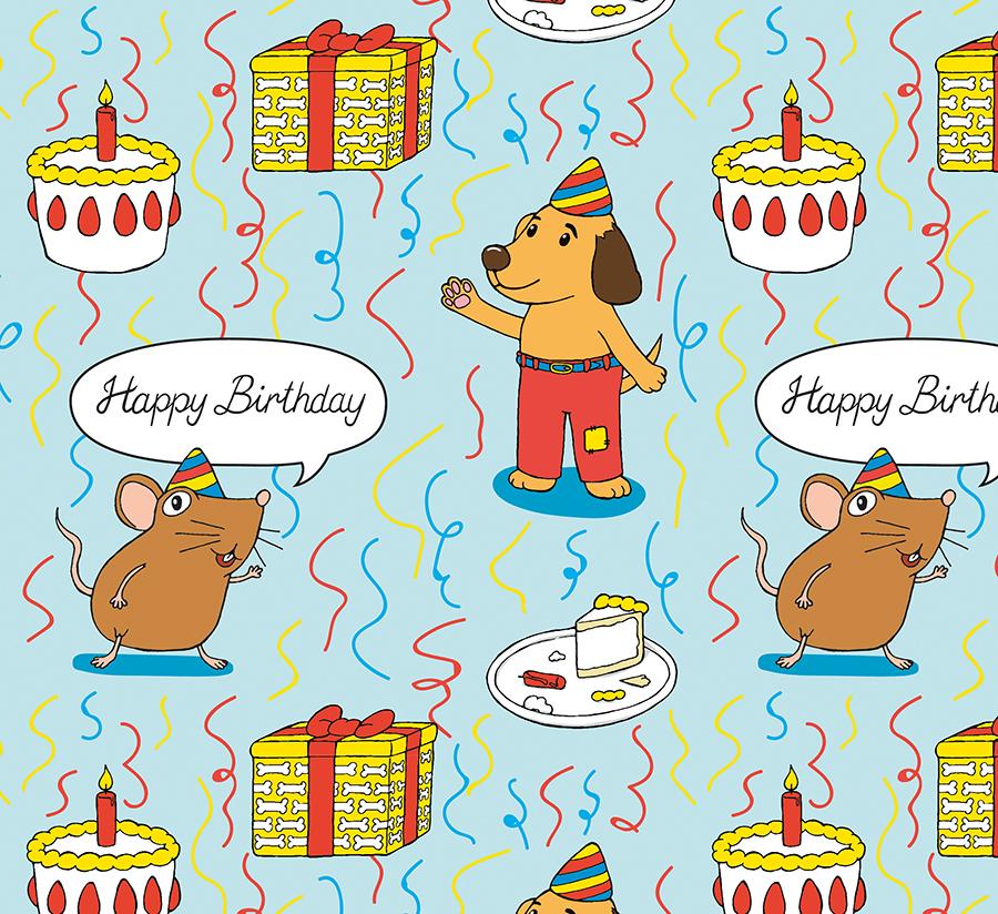 Pattern Geburtstag Hund